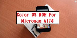 COLOR OS Custom ROM For Micromax A114 Canvas 2.2