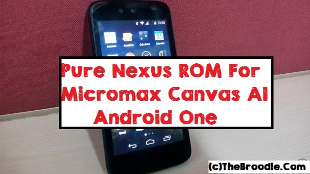 Pure One Nexus ROM for Micromax Canvas A1 Android One