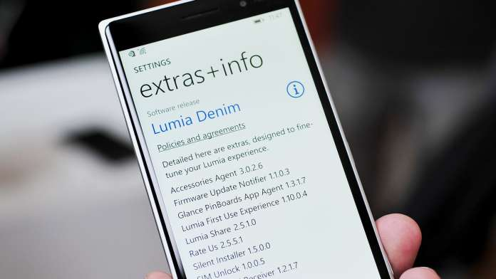 Denim Update for lumia