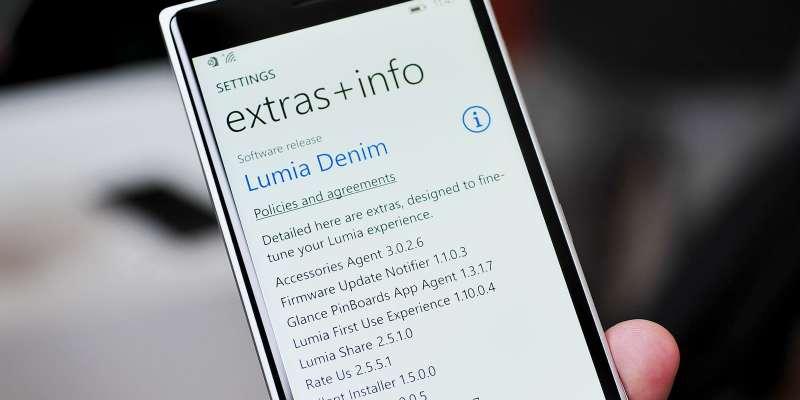Denim Update for lumia