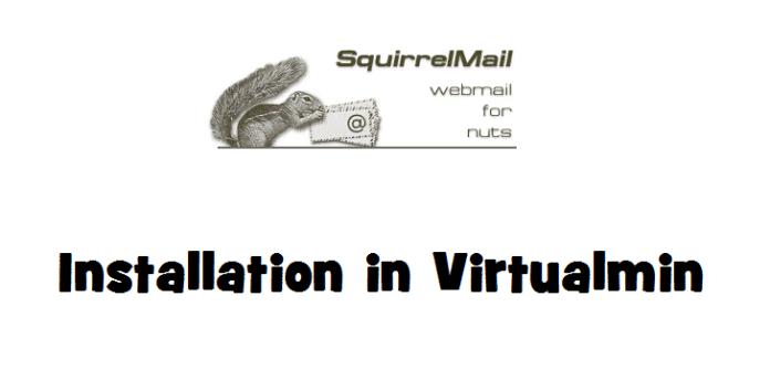SquirrelMail Webmail Installation in Virtualmin
