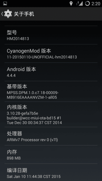 CM11 For Xiaomi Redmi 2 3