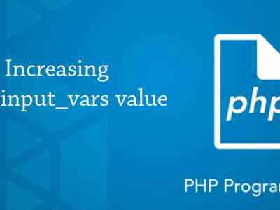 Max Input Vars Value in PHP