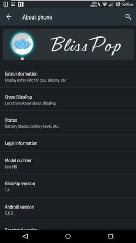 BlissPop Rom For Xiaomi Redmi 1S Official