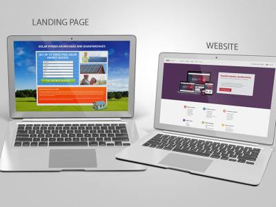 Difference Between Landing Page and a Website