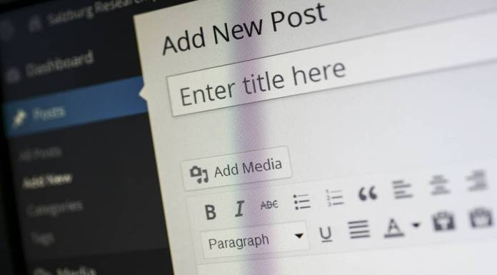 WordPress Blogging New Post