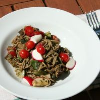 Soba Noodle Salad with Pesto & Grilled Eggplant