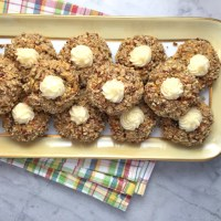 Carrot-Cake Thumbprint Cookies