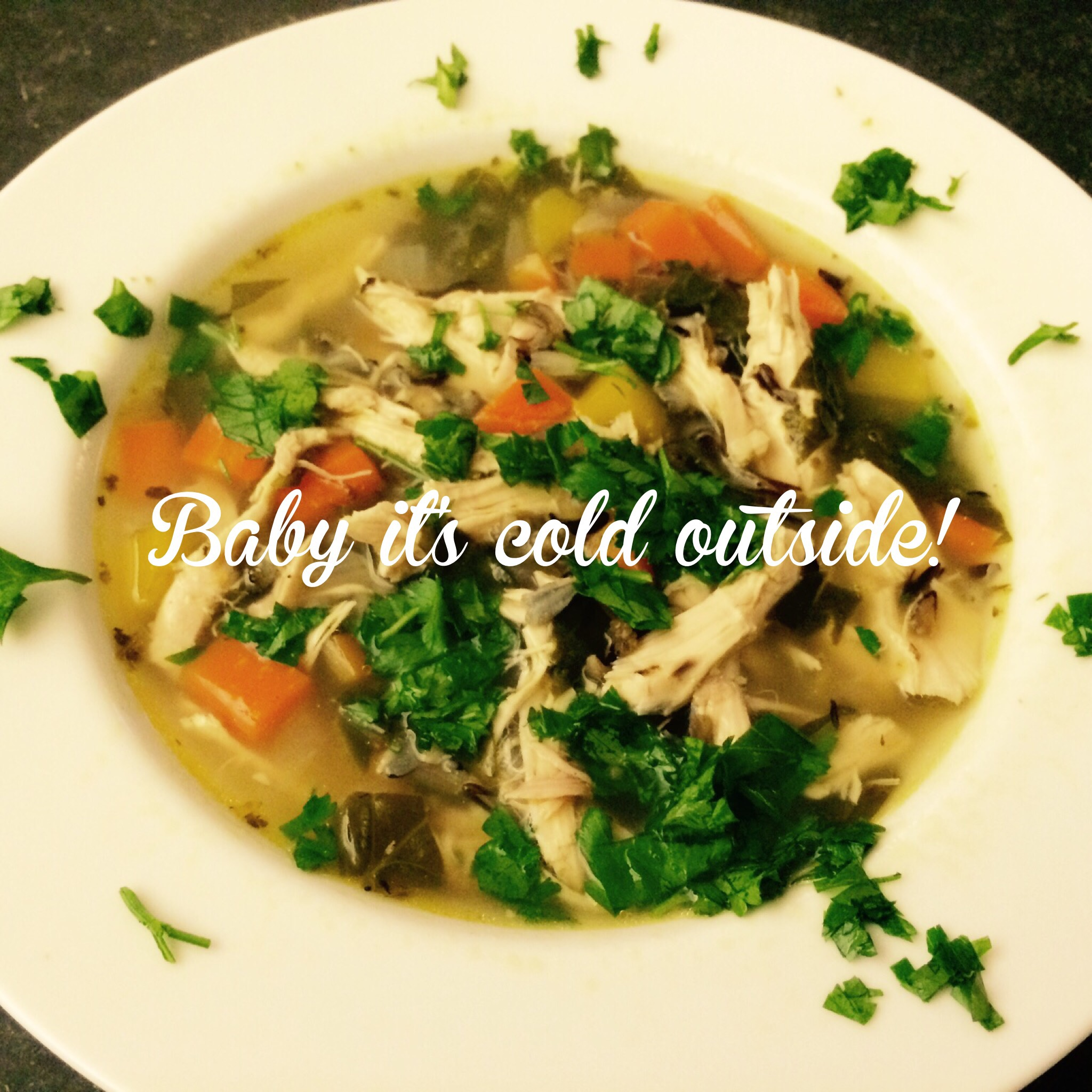 Super Easy Chicken and Wild Rice soup