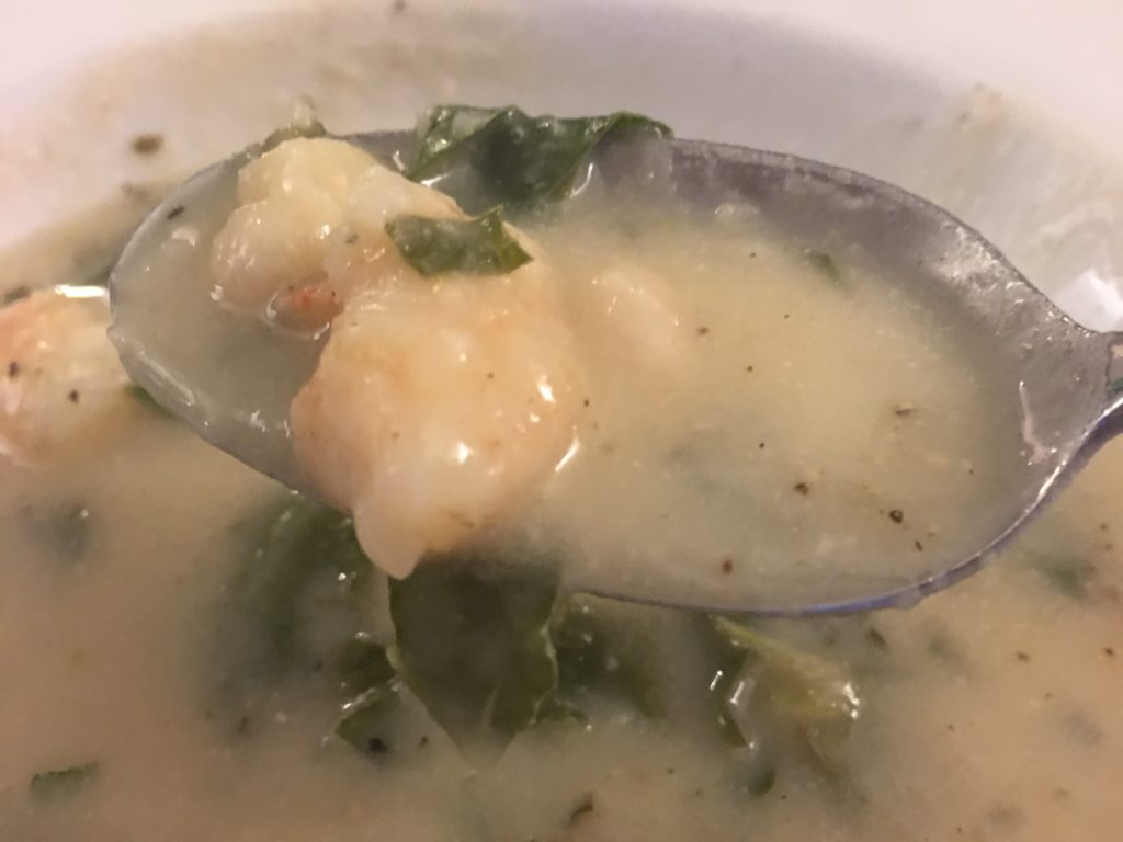White Bean and Shrimp soup