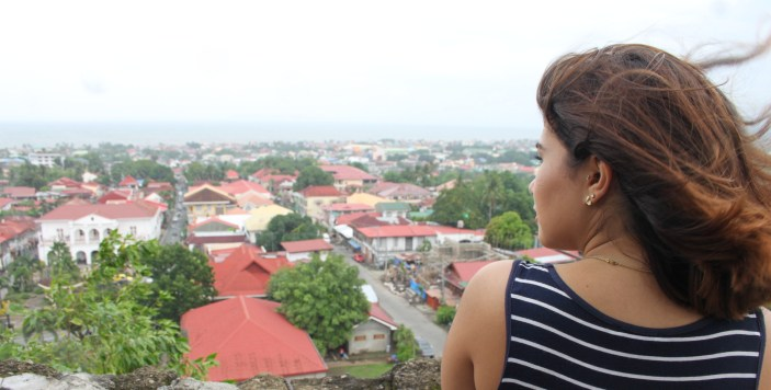 A candid shot of me viewing the panoramic view of Taal.