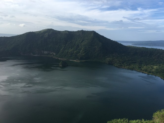The view from the top of the Taal Volcano.