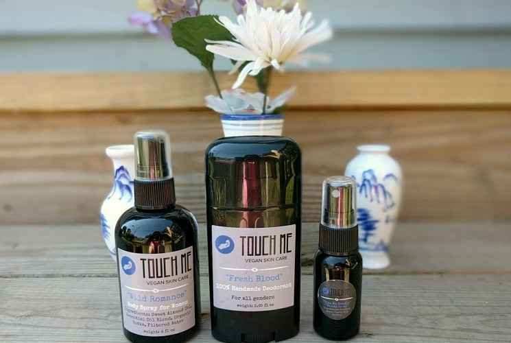 "Vegan Skincare With A Little Humor..Introducing ""Touch Me Skincare"""
