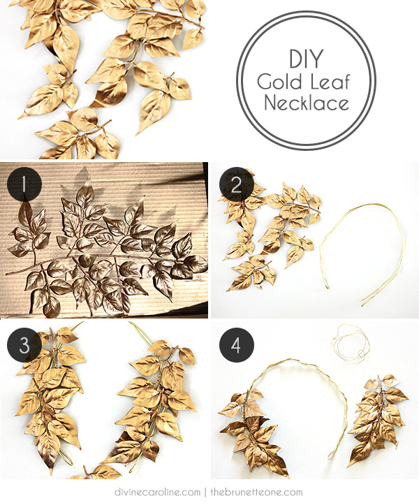 DIY Gold Leaf Necklace