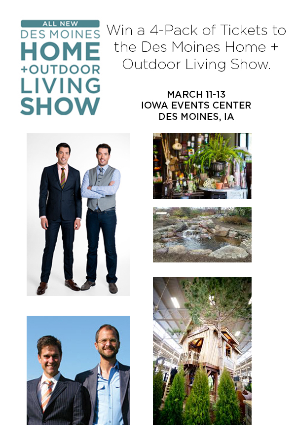 des moines home and outdoor living show giveaway