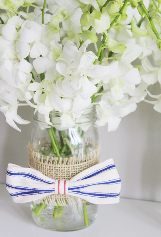 The Brunette   DIY Patriotic Mason Jar with ProFlowers.com