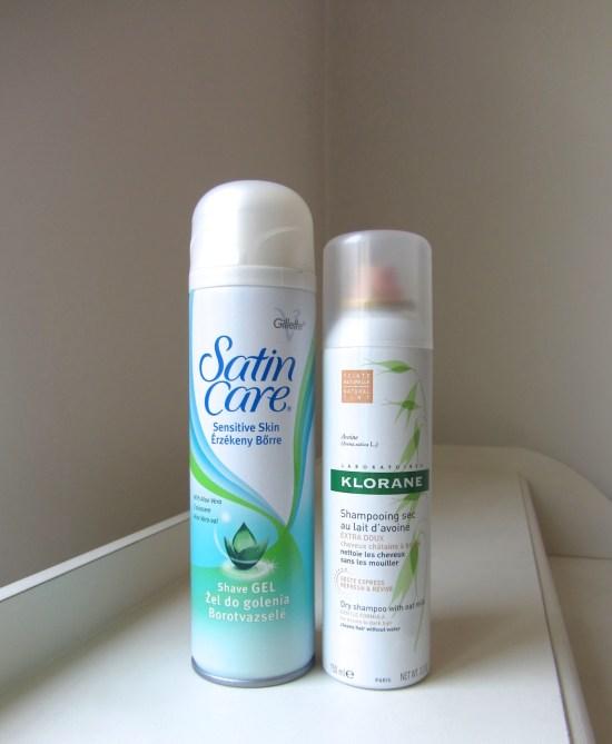 Gilette Venus Aloe Vera Shaving Gel & Klorane Oat Milk Dry Shampoo