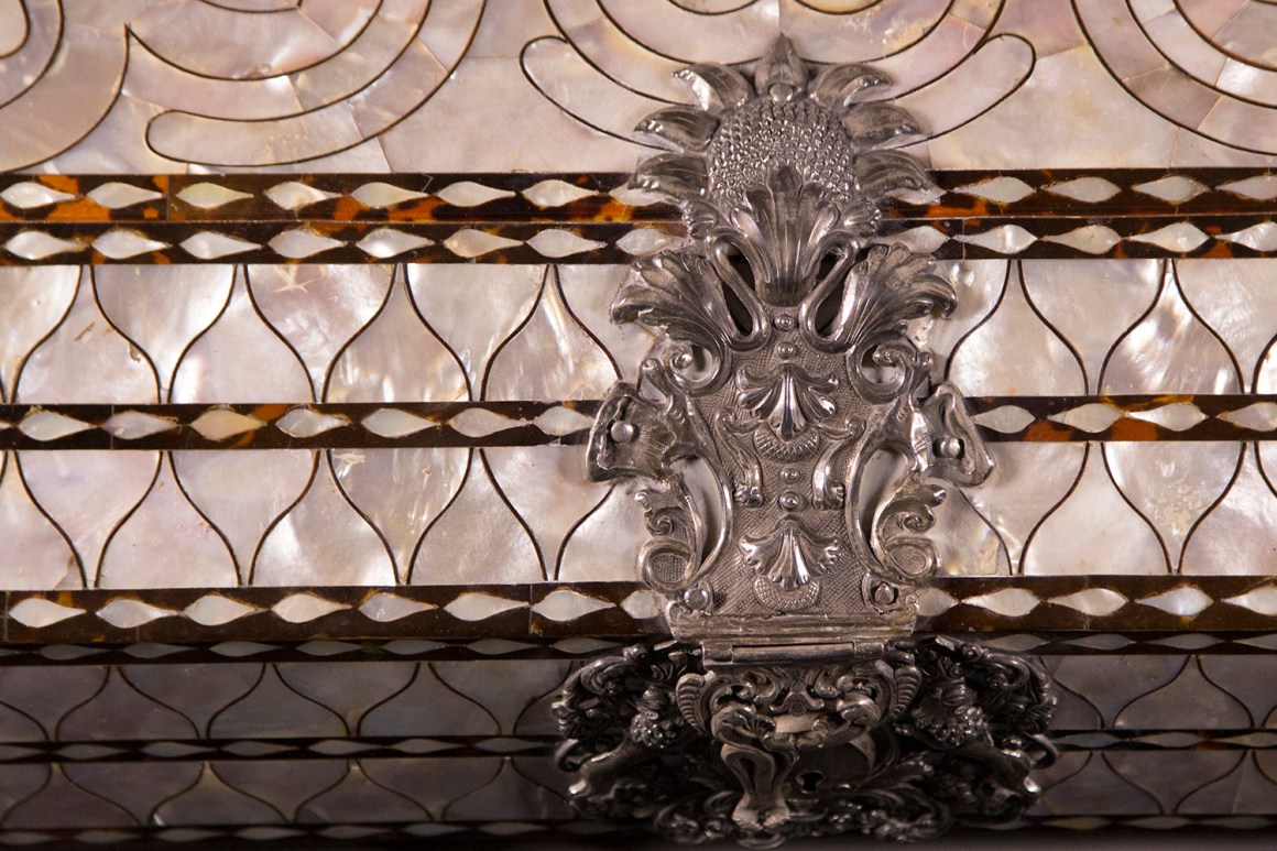 Mother-of-Pearl Chest which Carried a Spanish Royal Grant for California Lands