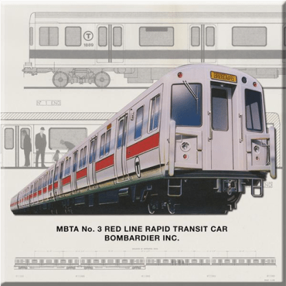 Red Line Car Magnet