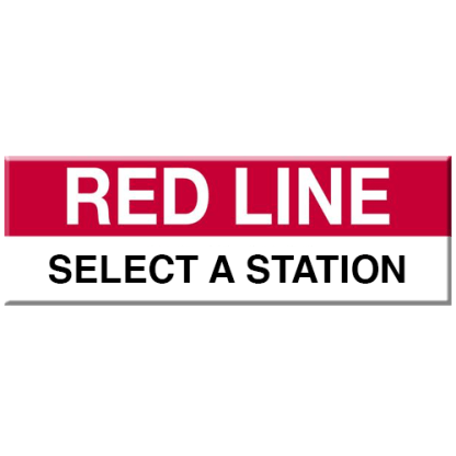 Red Line Magnet (Select Station)