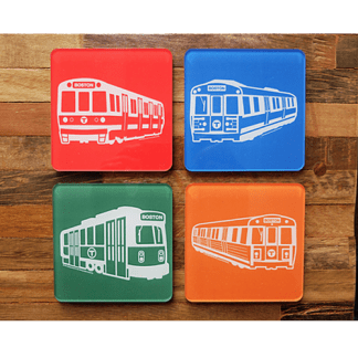MBTA Vehicle Coaster Set
