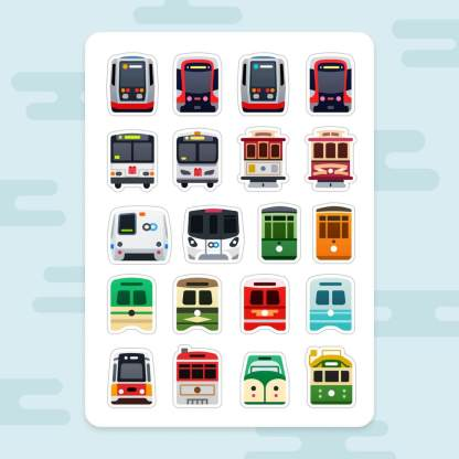 San Francisco Transit Sticker Sheet