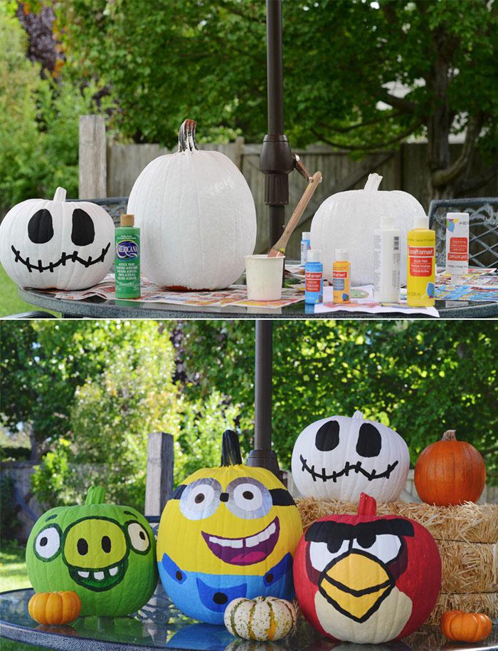 Halloween Activities: Painting Pumpkins