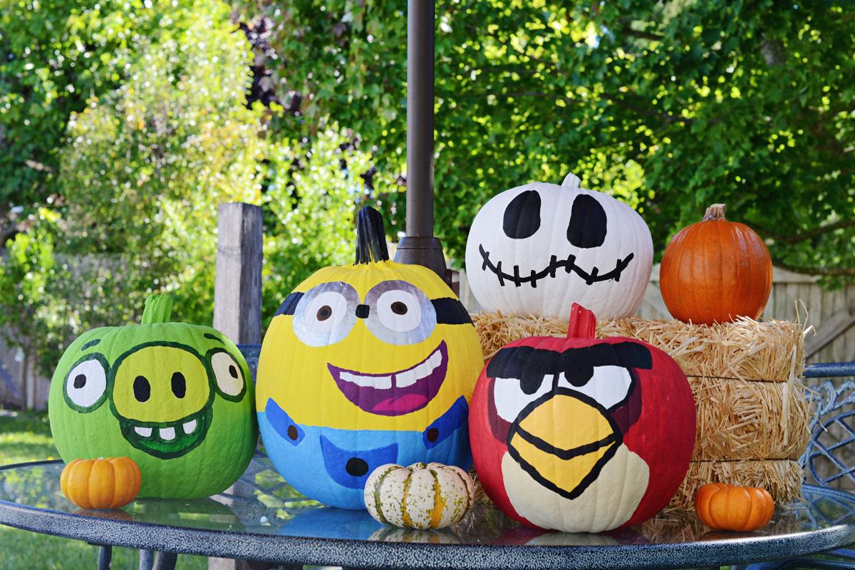 Fall Fun, Painting Pumpkins
