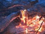 The blazing Yule Log