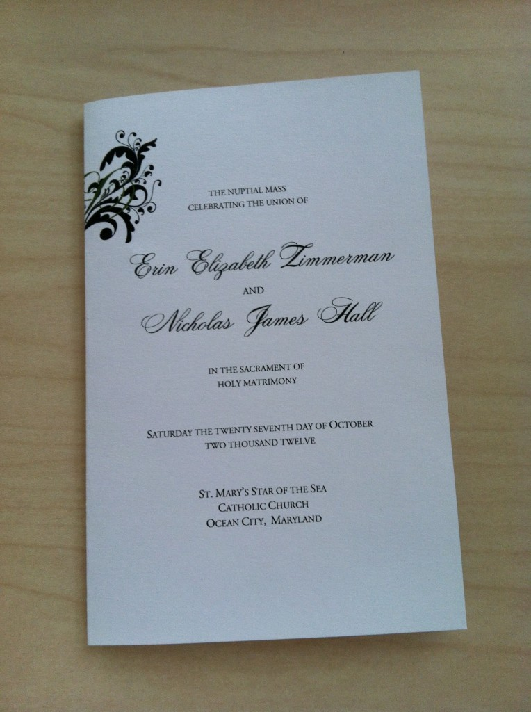 This Free Catholic Wedding Program Template Takes Out All The Guesswork For Your Guests On When