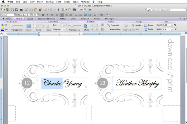 About Cards On Print Best Place Card Template 6 Per Sheet Ideas Printable