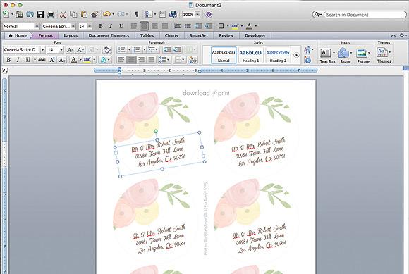 Garden Bouquet Printable Wedding Invitation Template Step10a Type