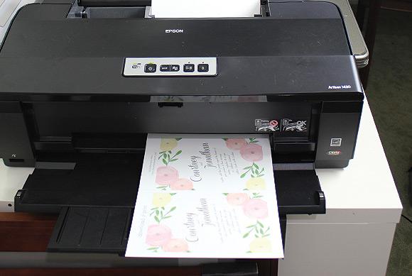 Garden Bouquet Printable Wedding Invitation Template Step2 Print