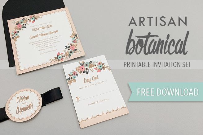 Invitation With Backing Ribbon