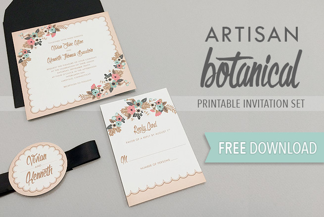 Free Delicate Floral Wedding Invitation Suite   The Budget Savvy Bride Download this free delicate floral wedding invitation suite and create  gorgeous invitations at home  The