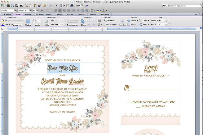 Free Rsvp Templates For Wedding Invites Wedding Invitation Ideas