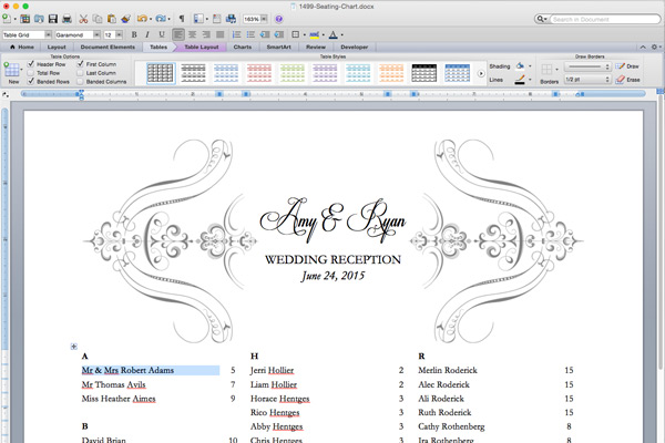 Wedding Table Seating Chart Printable Wedding Invitation Sample – Wedding Guest Seating Chart Template