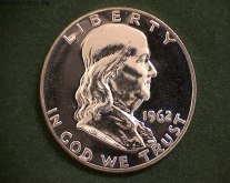 Brilliant Uncirculated Franklin Half Dollars $27.50 Each or a roll of 20 for $550