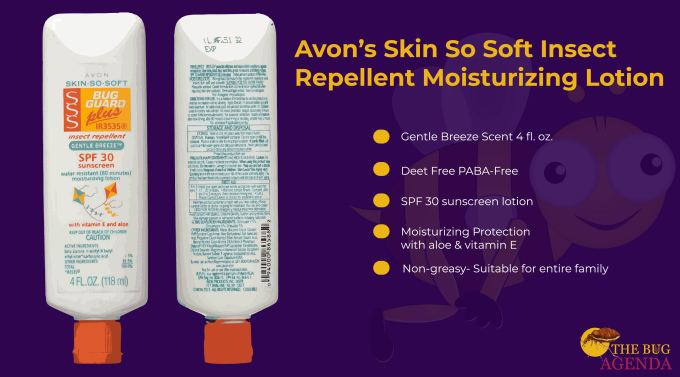Avon SSS Bug Guard PLUS Insect Repellent Moisturizing Lotion