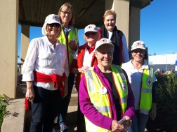 Kiama Red Cross President Judi O'Brien (front) with branch members Shelly Hetherington, Barbara Clayton, Ronnie Rathbone and Vicki Robb, with Ann Sudmalis MP (centre back)
