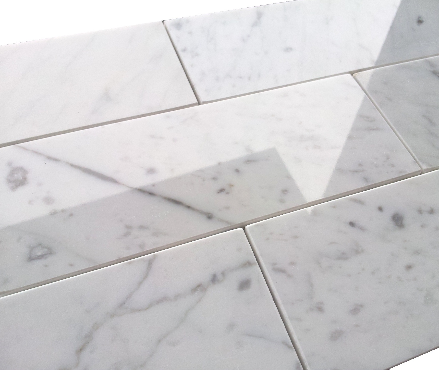 8 carrara marble tile polished