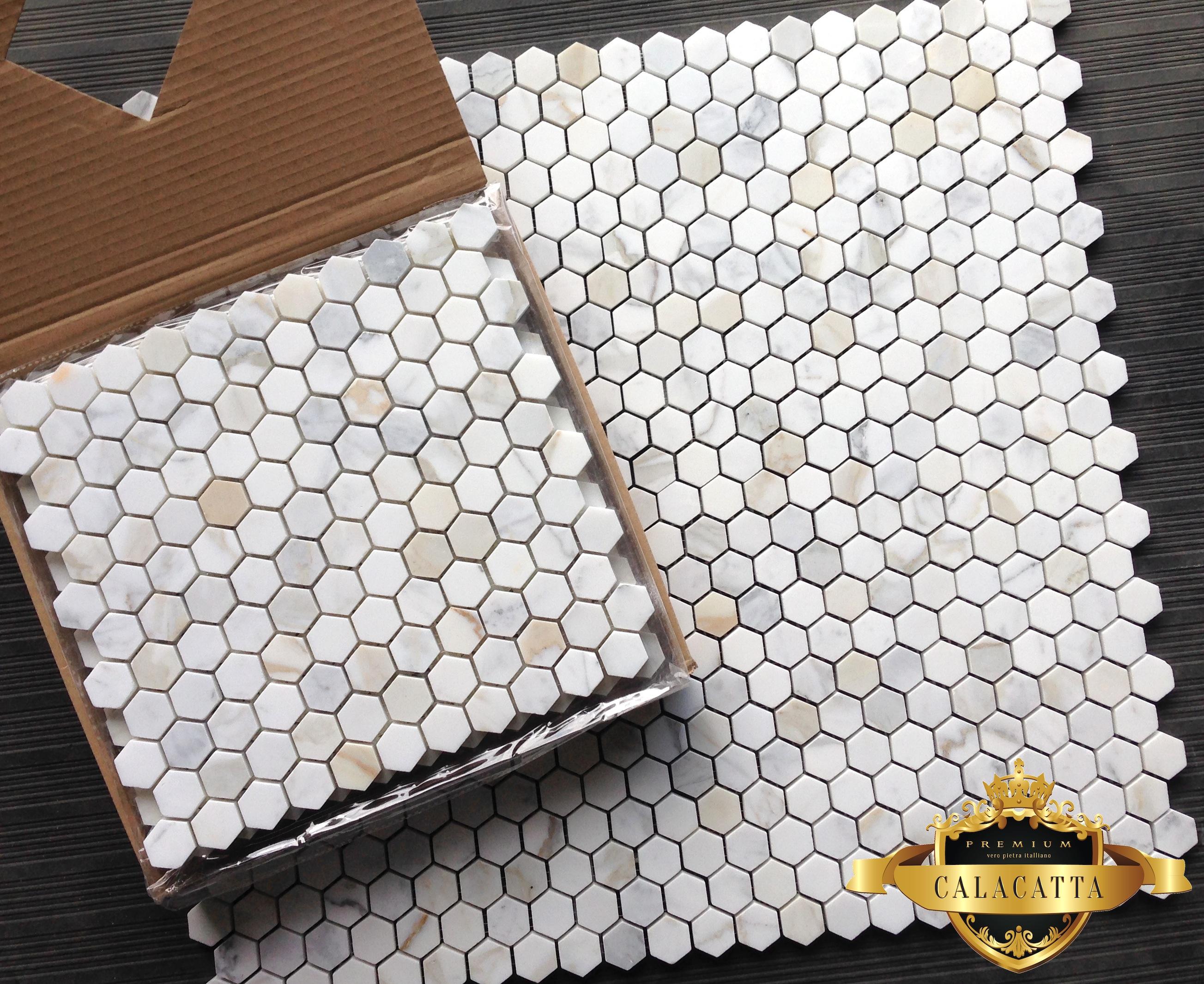 1 hexagon honed mosaic tile
