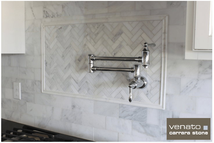 white marble subway tile the builder