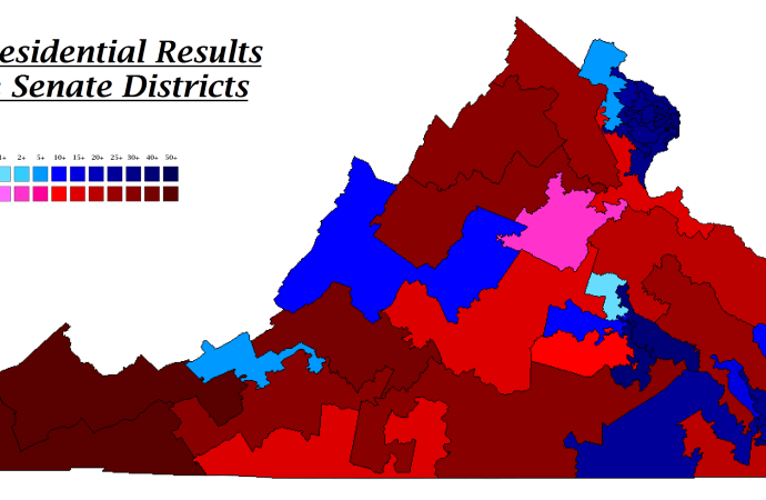 Presidential Election Results by State Senate District