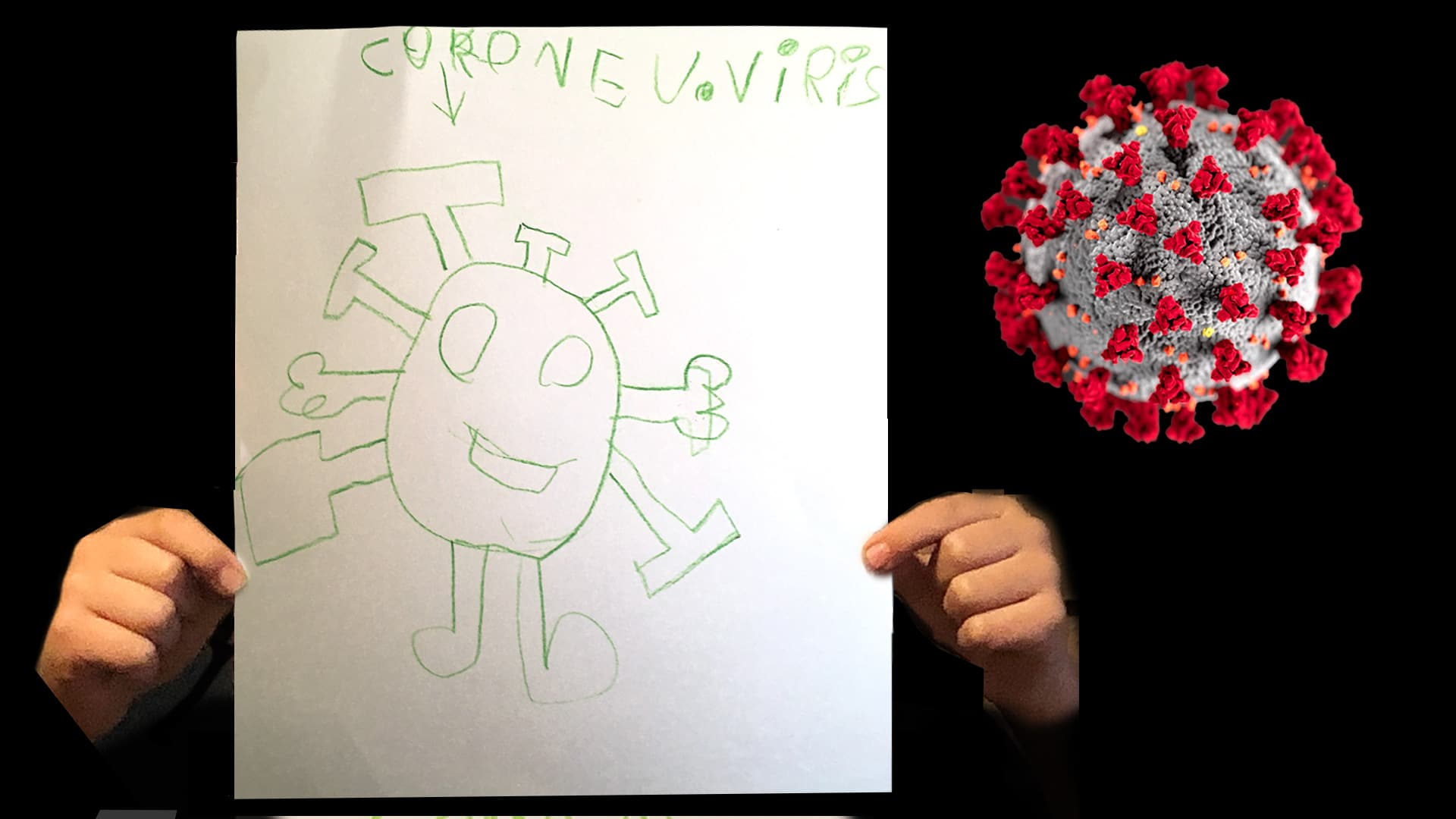 Kids Are Drawing Pictures Of The New Coronavirus That S A