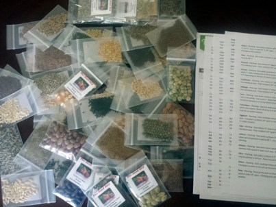 the 55 Variety Heirloom Non-GMO package from The Seed Guy