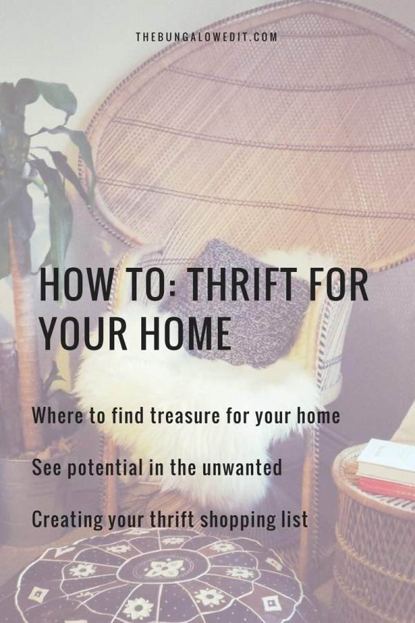 How to: Thrift for your home