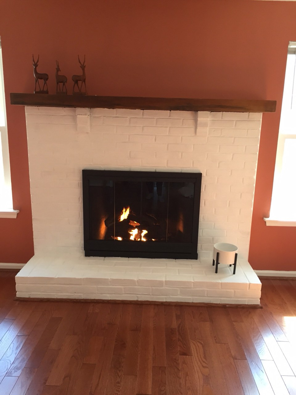 Painted fireplace - The BuNGALOW Edit
