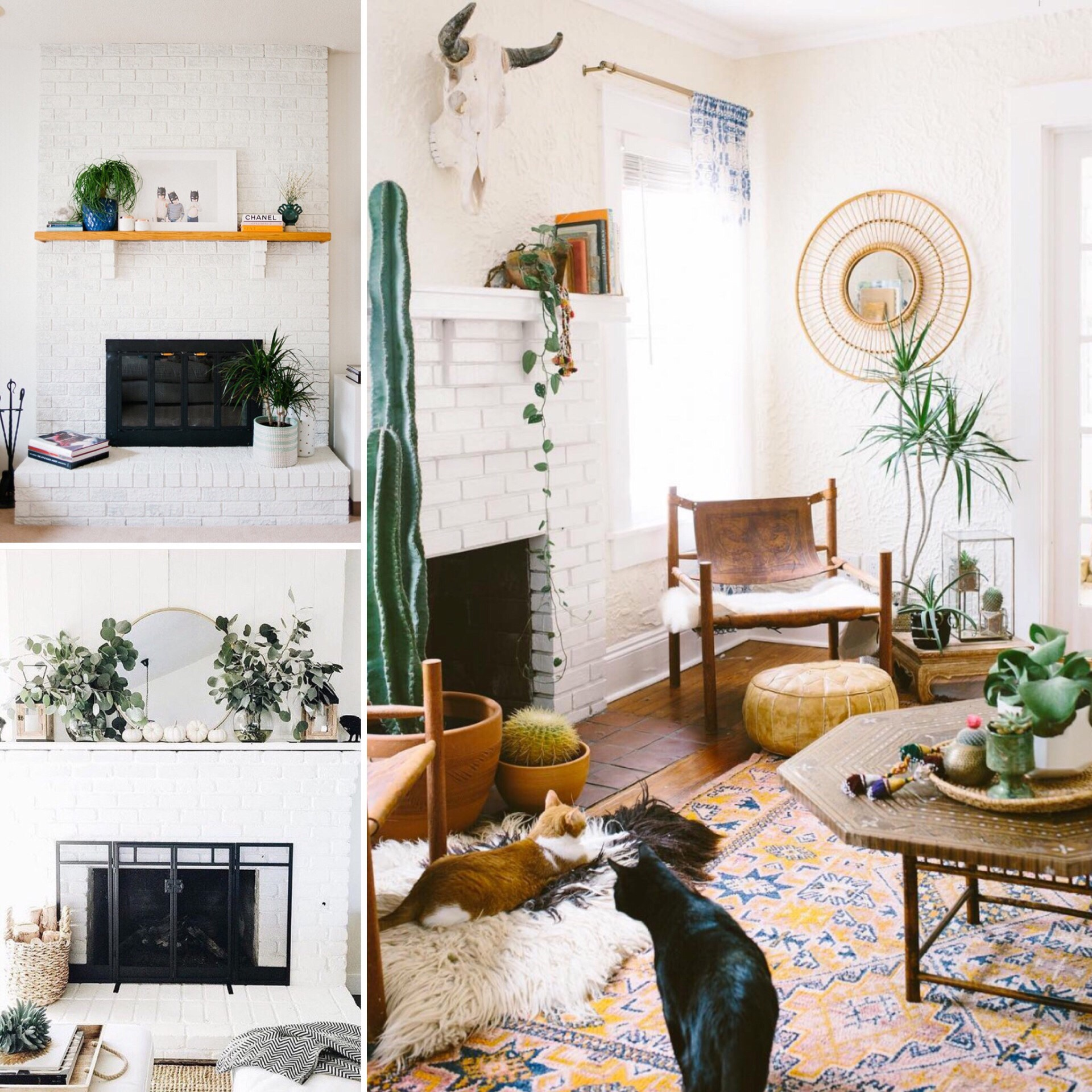 Fireplace moodboard - The BuNGALOW Edit