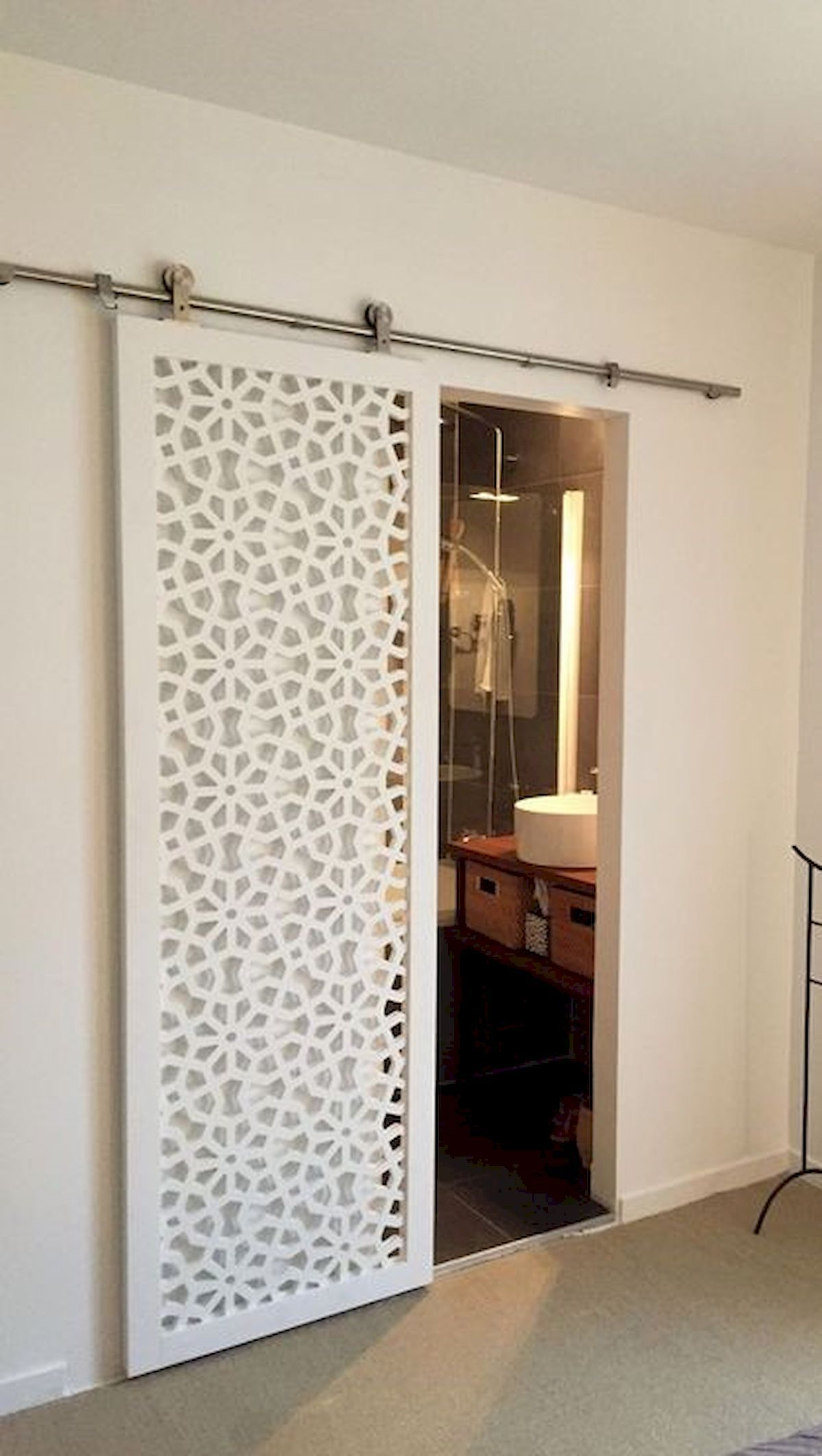 Laser cut sliding doors